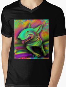 English Bull Terrier Colour Splash  Mens V-Neck T-Shirt