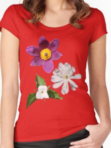A Medley of Spring Flowers Women's Fitted Scoop T-Shirt