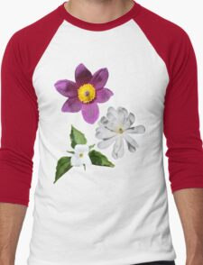 A Medley of Spring Flowers Men's Baseball ¾ T-Shirt