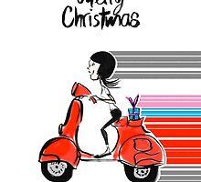 Vespa Christmas by Melissa Gaggiano