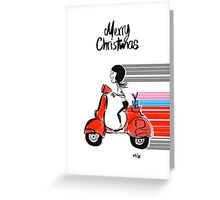 Vespa Christmas Greeting Card