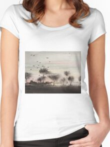 A Windy Day Women's Fitted Scoop T-Shirt