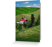 Palouse Red Barn Greeting Card