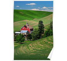 Palouse Red Barn Poster