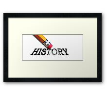 USA History Being Erased Free Speech Offended Civil War Confederate Flag Shirt, Poster, Stickers, Mugs, Skins Framed Print