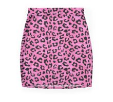 Pink Cheetah Skin Print Pencil Skirt