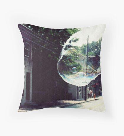 Town Bubble Throw Pillow