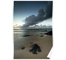 Rarotonga's Smoking Sunrise Poster