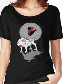 Able to leap Bull Terriers in a single bound... Women's Relaxed Fit T-Shirt