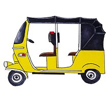 Tuk Tuk in Yellow!  by divyabala