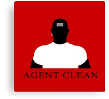 Agent Clean Canvas Print