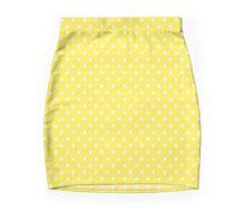 Yellow & White Polka Dots Mini Skirt