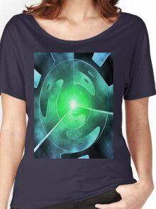ying yang blue green Women's Relaxed Fit T-Shirt
