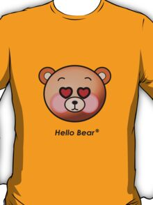 Hello Bear heart eyes T-shirt T-Shirt
