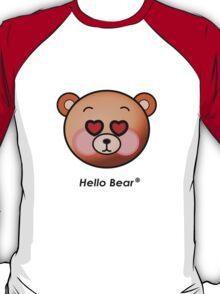 Hello Bear heart eyes T-shirt T-Shirt