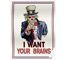 Uncle Sam Zombie Poster