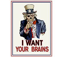 Uncle Sam Zombie Photographic Print