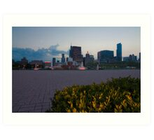 Buckingham Fountain with painted in light Art Print