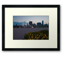 Buckingham Fountain with painted in light Framed Print