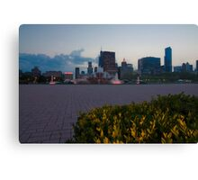 Buckingham Fountain with painted in light Canvas Print