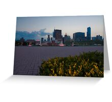 Buckingham Fountain with painted in light Greeting Card