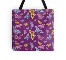 Colorful Butterfly Pattern Tote Bag