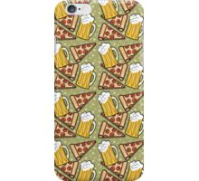 Beer and Pizza Graphic Pattern iPhone Case/Skin