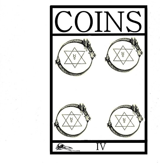 4 of Coins by Peter Simpson
