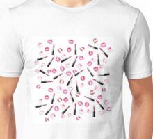 lipsticks and kisses watercolor pattern Unisex T-Shirt