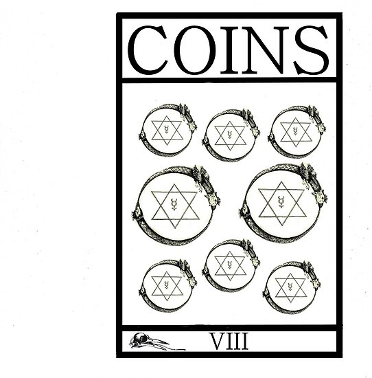 8 of Coins by Peter Simpson