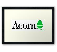 Acorn computers logo Framed Print