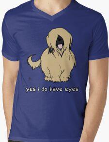 Briard - Yes, I have eyes. w/ TEXT Mens V-Neck T-Shirt