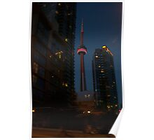 The CN Tower... a night view. Poster