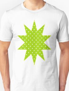 Lime Green Polka Dots Unisex T-Shirt