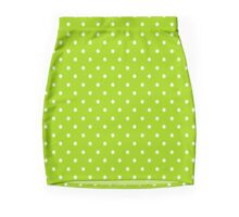 Lime Green Polka Dots Mini Skirt