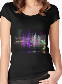 VIVID Darling Harbour Light Display Women's Fitted Scoop T-Shirt
