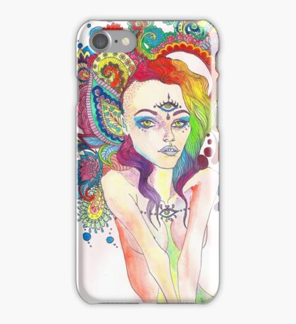 Original Ink Drawing (Open Mind) iPhone Case/Skin