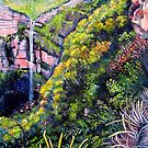 Govetts Leap Falls, Blue Mountains by Linda Callaghan