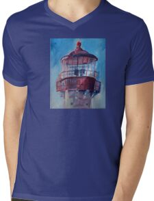 Lighthouse At West Cape May Mens V-Neck T-Shirt