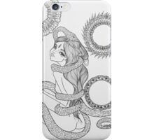 Original Ink Drawing (Coiled) iPhone Case/Skin