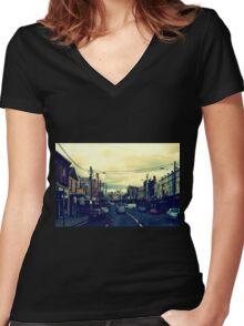 Inner City Suburb Women's Fitted V-Neck T-Shirt