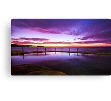 Sunrise over ocean baths Canvas Print
