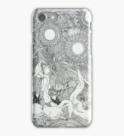 Original Ink Drawing (Midnight Musings) iPhone Case/Skin
