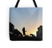 Tethered Walk At Sundown Tote Bag