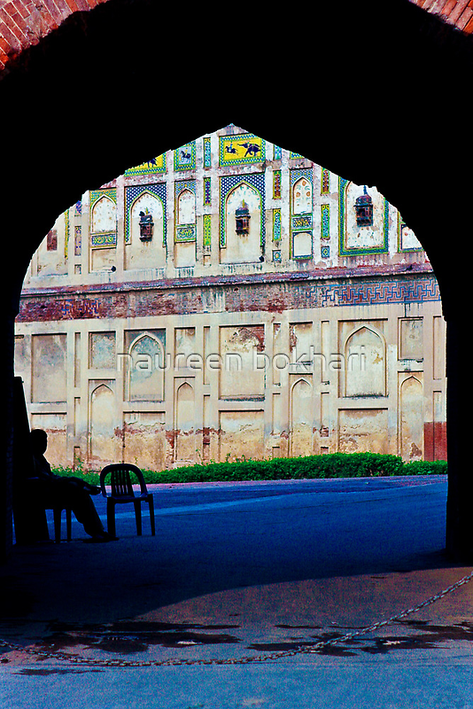 Gates of the Lahore Fort by naureen bokhari