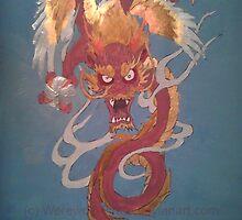 Oriental Dragon Acrylic by werewolf-Pirate