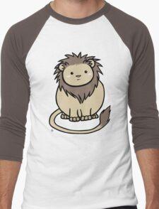 Wildlife Chibi - African Lion Men's Baseball ¾ T-Shirt