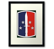 189th Infantry Brigade (United States) Framed Print