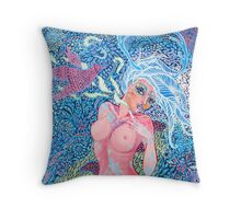 Original Acrylic Painting (Artemis Ataraxia) Throw Pillow