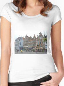 Beside Friday Market Square Women's Fitted Scoop T-Shirt